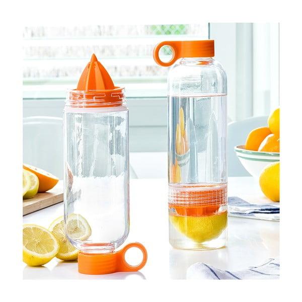 Wielofunkcyjna butelka z wyciskarką owoców InnovaGoods Sensation, 550 ml