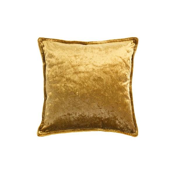 Polštář ve zlaté barvě White Label Tess, 45x45cm