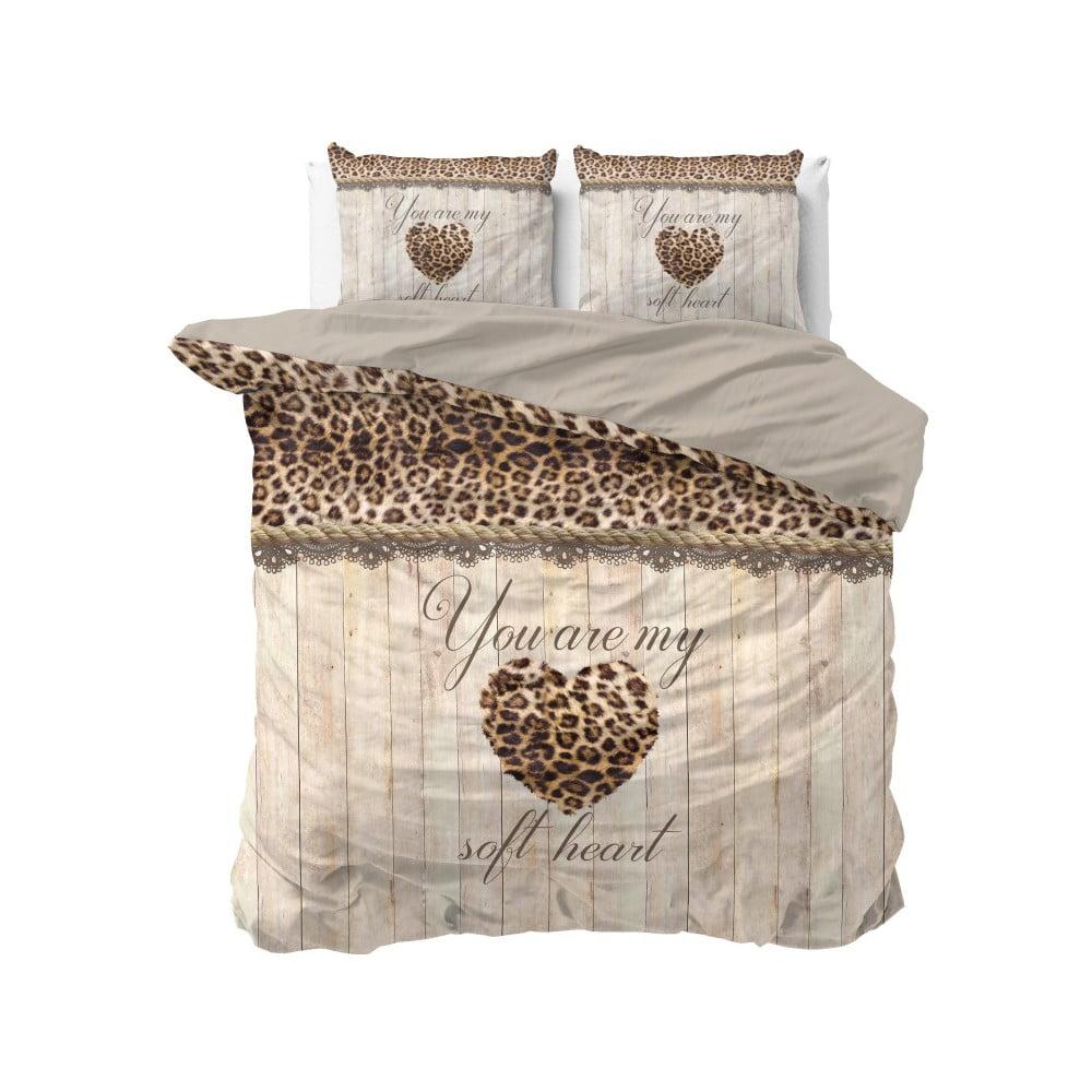 Bavlněné povlečení na dvoulůžko Sleeptime Home is Love, 200 x 220 cm