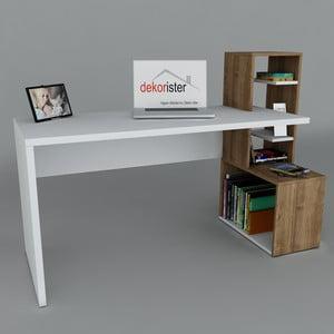 Pracovní stůl Side White/Walnut, 60x120x107 cm