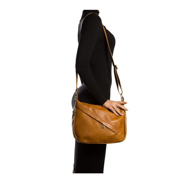 Kožená kabelka Isabella Rhea 2133, koňak