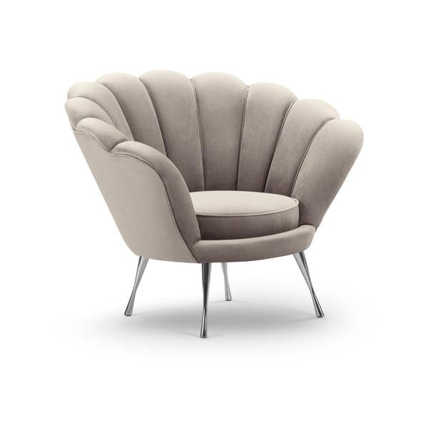 Varenne bézs bársony fotel - Interieurs 86