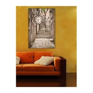 Obraz s hodinami Romantické zátiší I, 60x40 cm