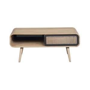 Konferenční stolek z masivního mangového dřeva Woodjam Cane Contemporain