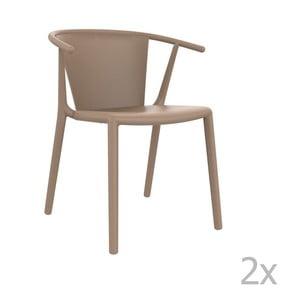 Sada 2 béžových  zahradních židlí Resol Steely