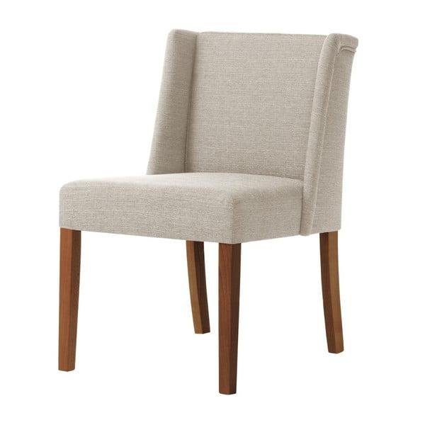 Krémová židle s tmavě hnědými nohami z bukového dřeva Ted Lapidus Maison Zeste