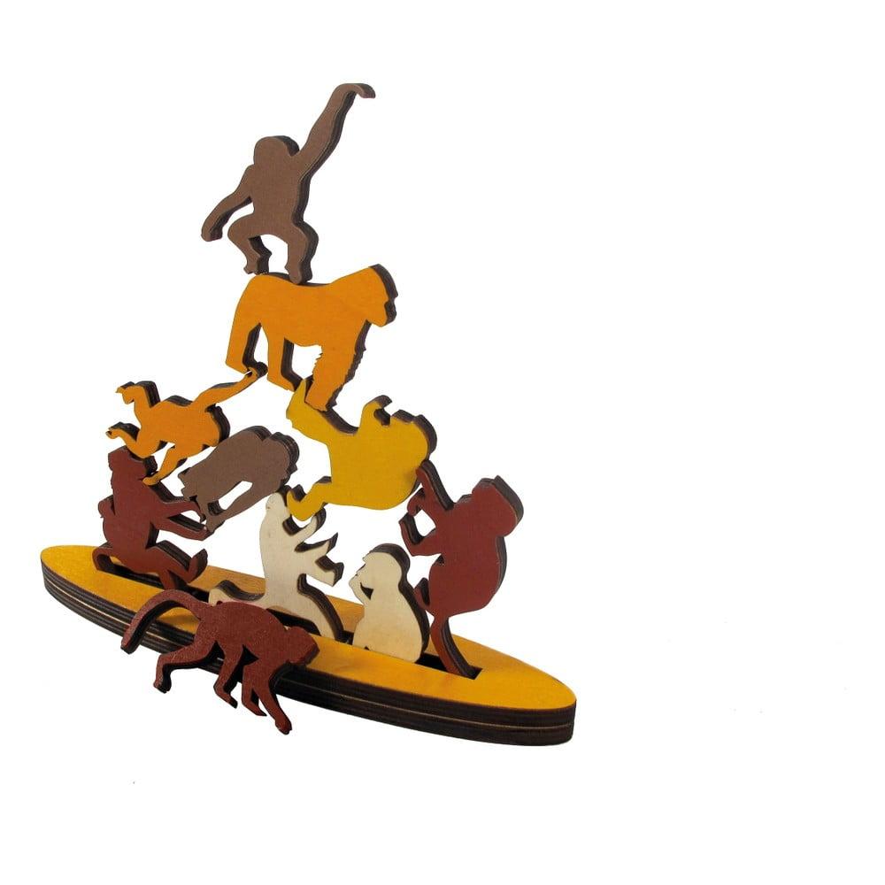 Dřevěná skládací hra RECENTTOYS Monkey Business