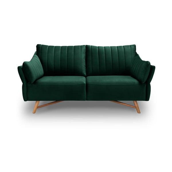 Elysée sötétzöld bársony kanapé, 174 cm - Interieurs 86