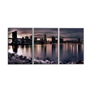 3dílný obraz Manhattan Bridge, 45x90 cm