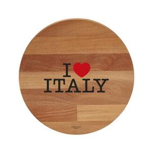 Prkénko z bukového dřeva Bisetti I Love Italy, 30 cm