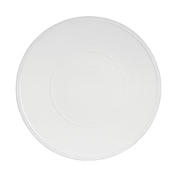 Bílý kameninový talíř Costa Nova Friso, ⌀34cm