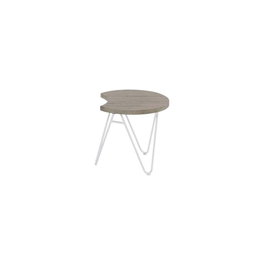 Zahradní stolek z teakového dřeva Hartman Sophie Half Moon, ø 50 cm