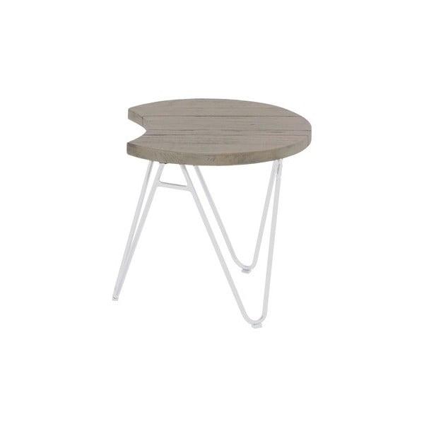 Zahradní stolek z teakového dřeva Hartman Sophie Half Moon, ø50cm