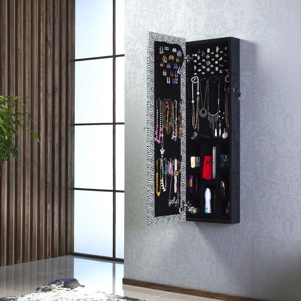 Uzamykatelné závěsné zrcadlo se šperkovnicí Adonna, leopardí