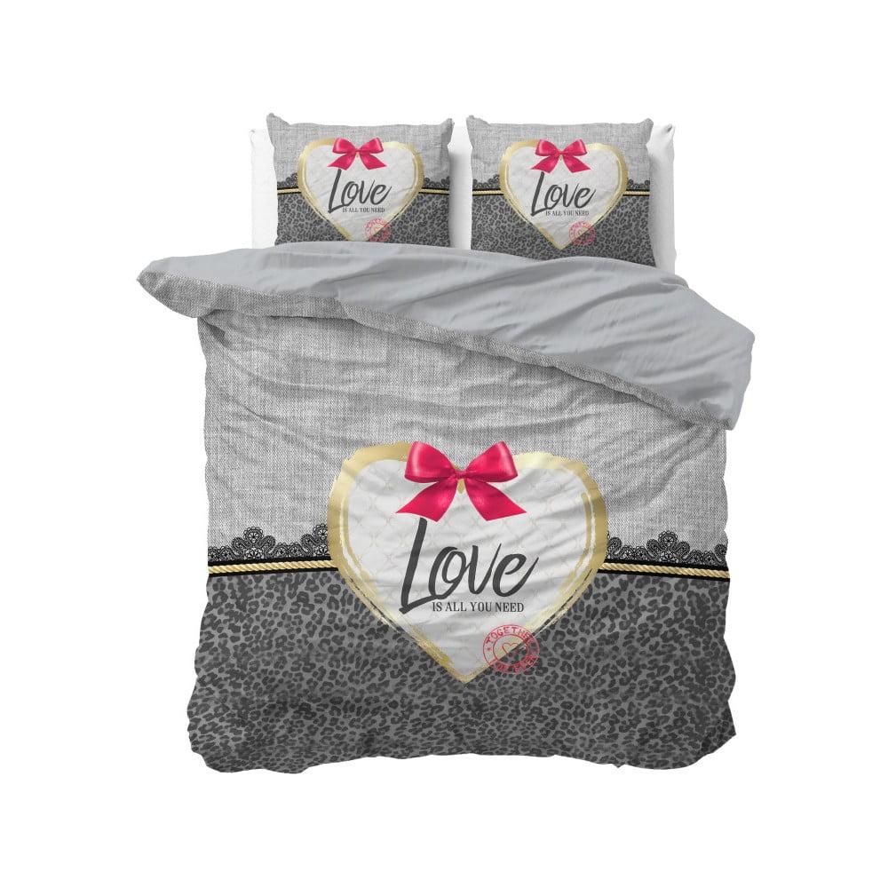 Bavlněné povlečení na dvoulůžko Sleeptime Wld Love, 200 x 220 cm