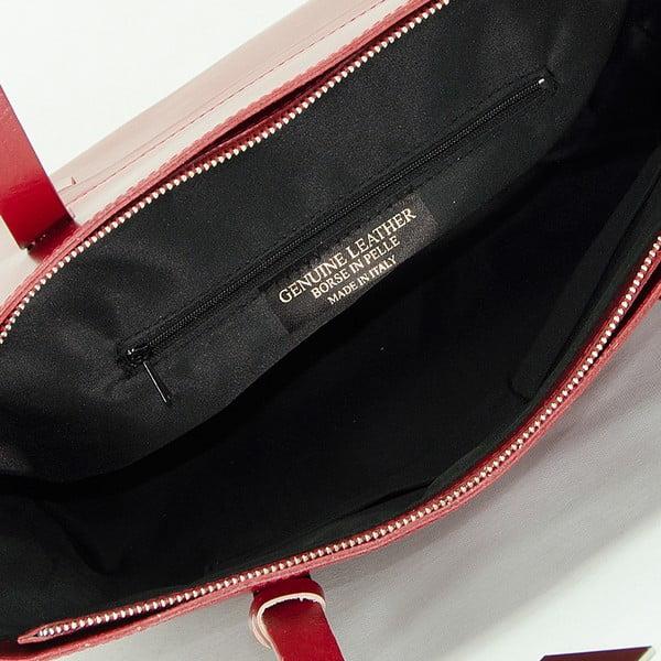 Červená kožená kabelka Giorgio Costa Gerogina