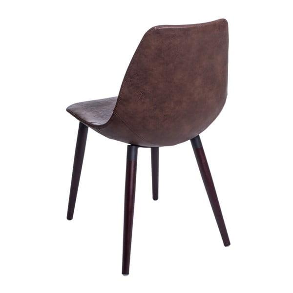 Sada 2 hnědých židlí D2 Vincent
