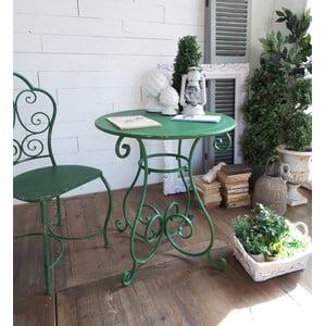 Kovový stolek Shabby Green