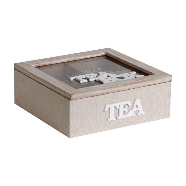 Dřevěná krabice na čaj Maiko Nature