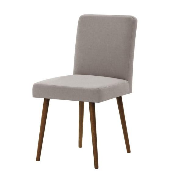 Šedohnědá židle s tmavě hnědými nohami z bukového dřeva Ted Lapidus Maison Fragrance