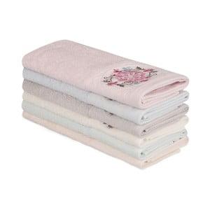 Sada 6 bavlněných ručníků Nakis Ghanno, 30 x 50 cm
