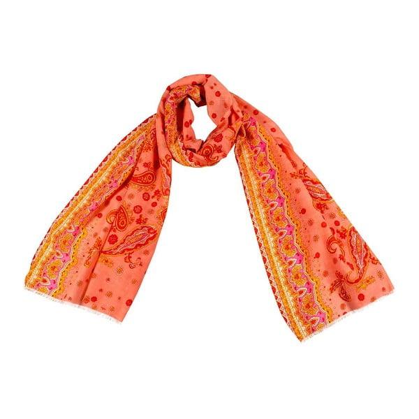 Šátek s příměsí hedvábí Shirin Sehan - Bella Apricot