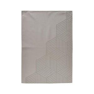 Šedohnědá kuchyňská utěrka ze 100% bavlny Zone Hexagon, 50x70cm