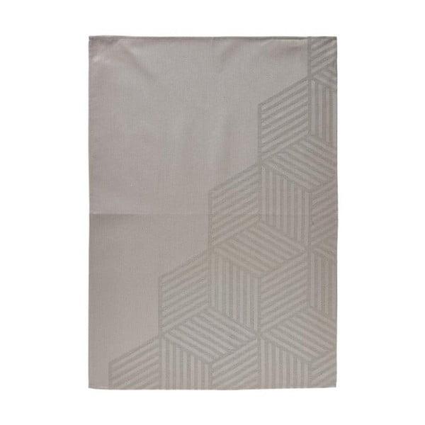 Hexagon szürkésbarna pamut konyharuha, 50 x 70 cm - Zone