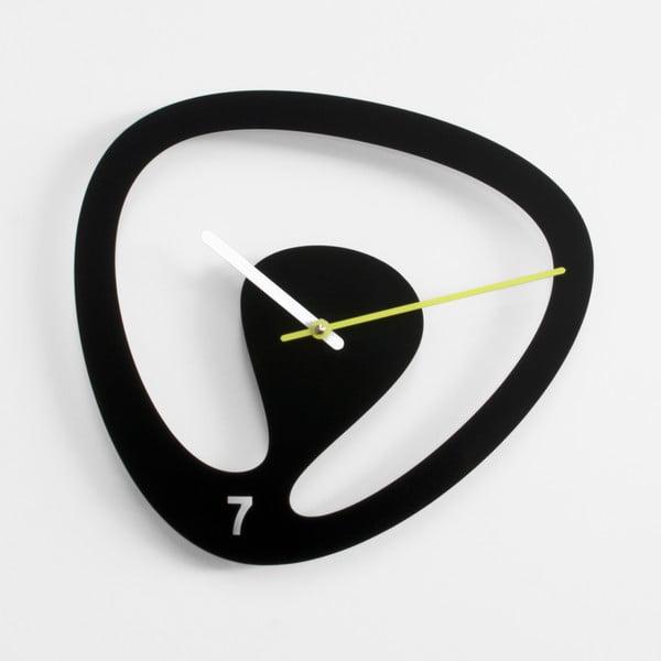 Nástěnné hodiny Seven, černé