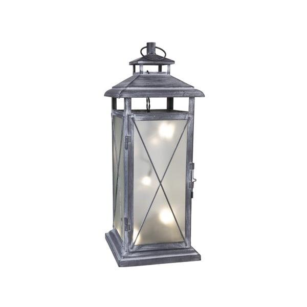 LED lucerna Stallis 45 cm, šedá