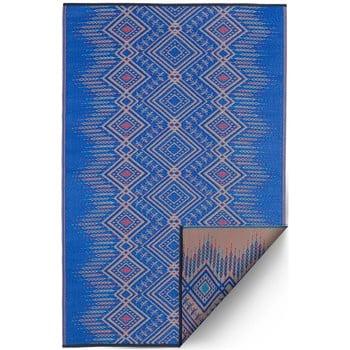 Covor reversibil potrivit pentru exterior, din plastic reciclat Fab Hab Jodhpur Multi Blue, 120 x 180 cm, albastru