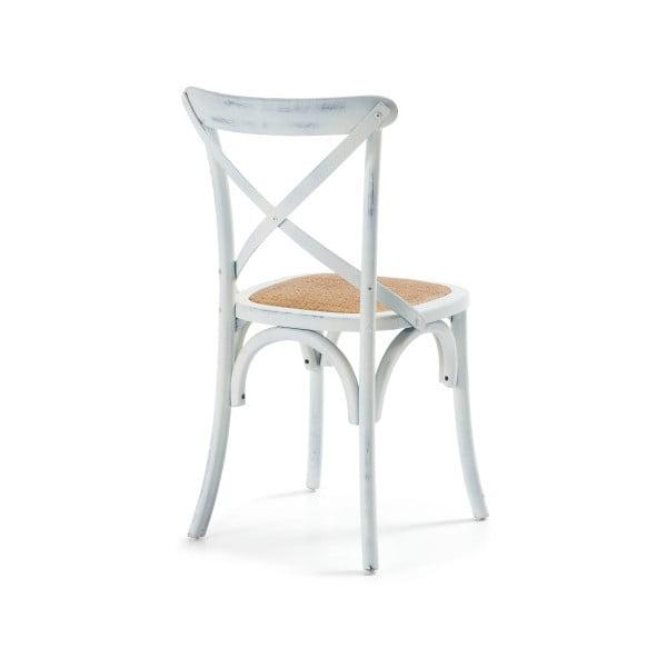 Židle Silea, bílá/přírodní