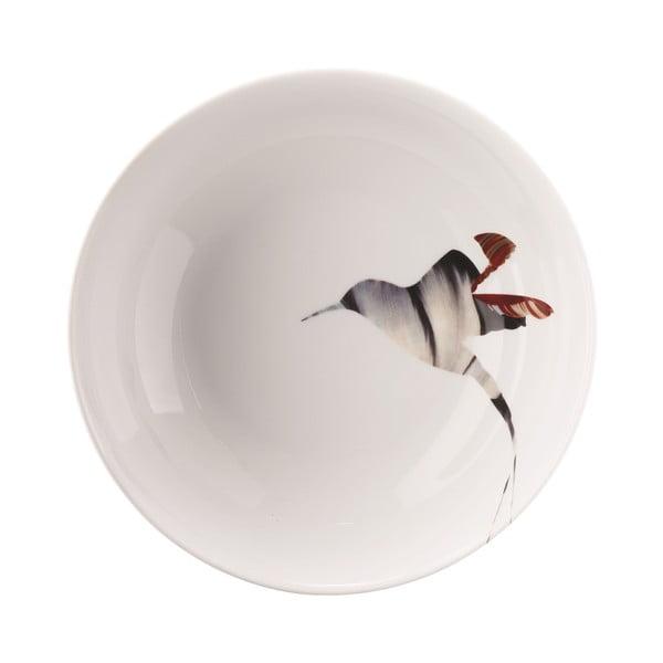 Porcelánový polévkový talíř Flutter