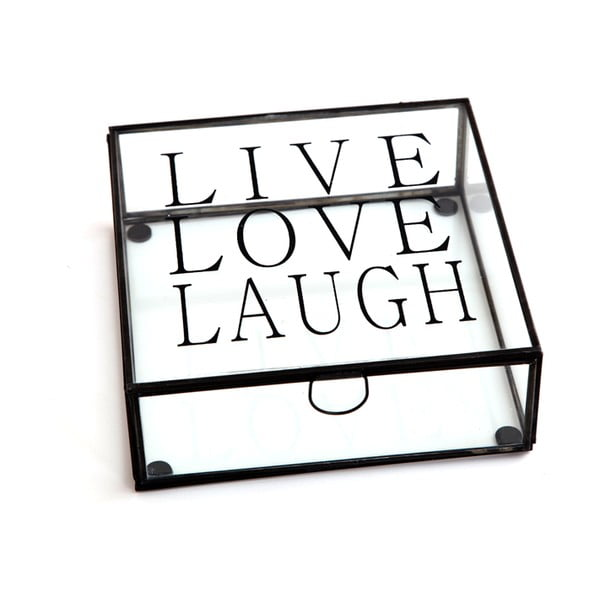 Box Cristal Live Love Laugh