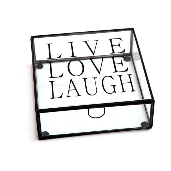 Box Cristal Live Love Laugh