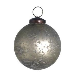 Set šesti skleněných ozdob, Artifact, 10 cm, matná bílá