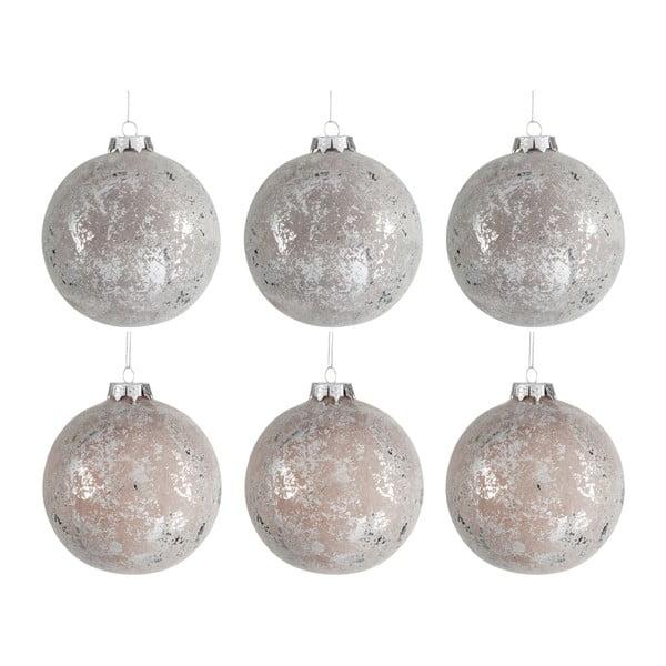 Sada 6 vánočních ozdob Bauble, průměr 10 cm