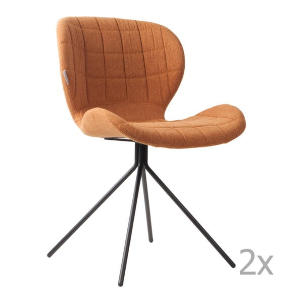 Set 2 scaune Zuiver OMG, maro