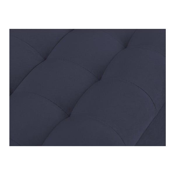 Tmavě modrý otoman s úložným prostorem Windsor & Co Sofas Nova, 200 x 47 cm