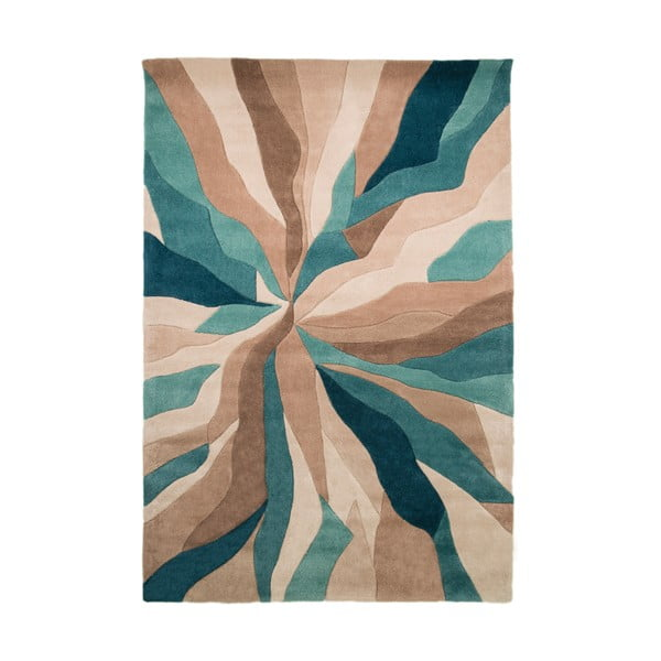 Splinter Teal szőnyeg, 120 x 170 cm - Flair Rugs