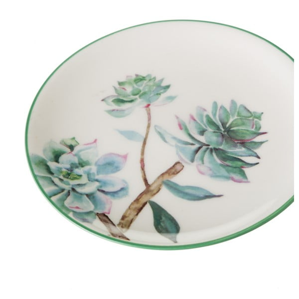 Sada 4 porcelánovýh talířů Unimasa Plants, ⌀ 10 cm