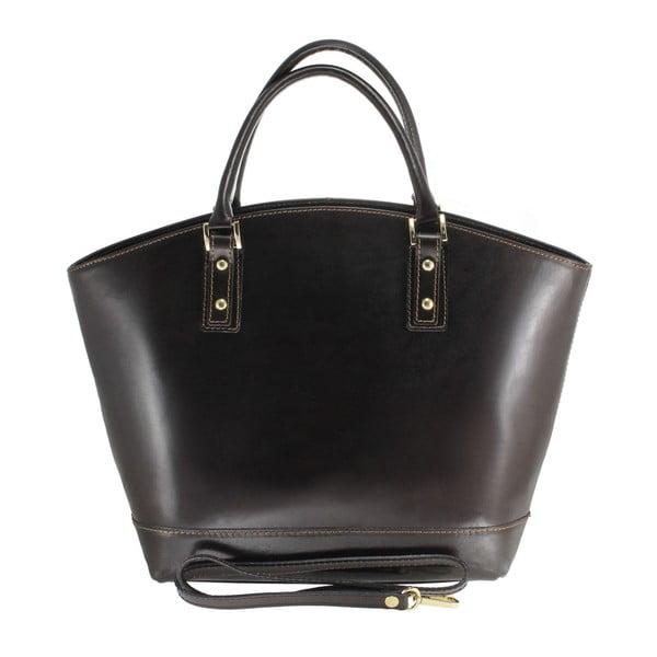 Černá kožená kabelka Chicca Borse Stefania