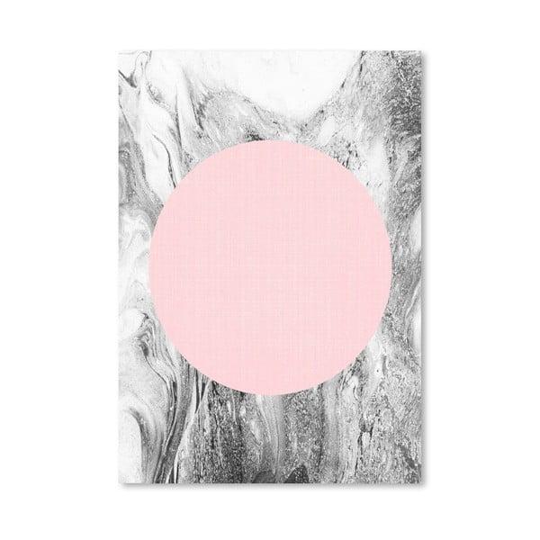 Plakát Geometric Pink Grey