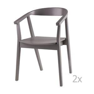 Set 2 scaune sømcasa Donna, gri