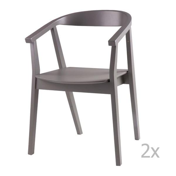 Zestaw 2 szarych krzeseł sømcasa Donna