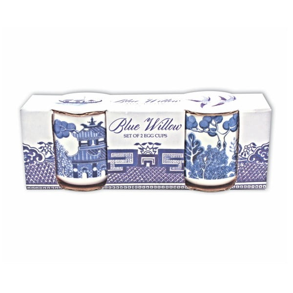 Set 2 suporturi ou Gift Republic Blue Willow