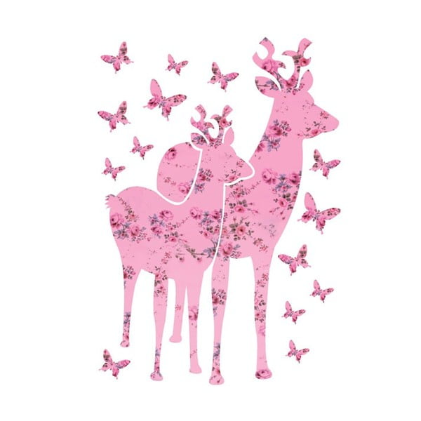 Samolepka na zeď Bambi, 65x90 cm
