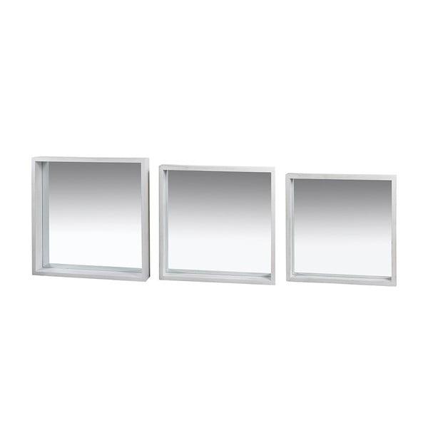 Sada 3 nástěnných zrcadel s rámem ze dřeva paulownia Santiago Pons Tommy