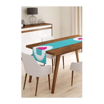 Napron din microfibră pentru masă Minimalist Cushion Covers Blue Cupcake, 45x145cm de la Minimalist Cushion Covers