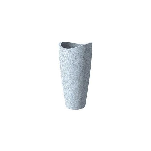 Venkovní květináč Wave 80x39,5 cm, bílý
